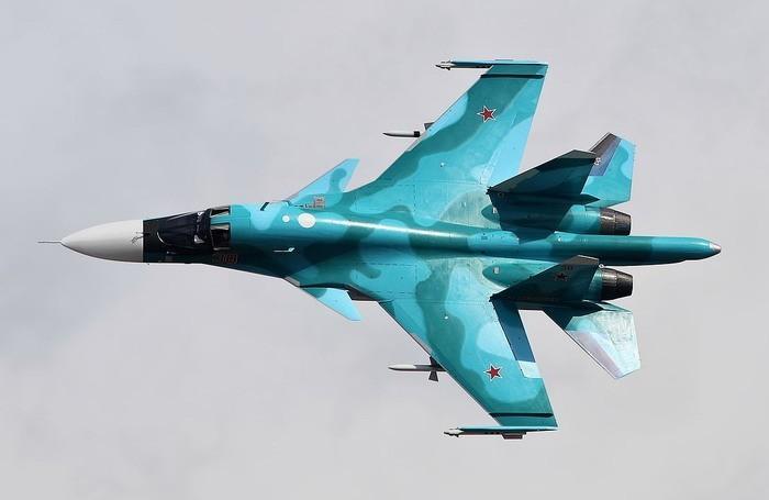 Пуск сверхзвуковой ракеты Х-31 с фронтового бомбардировщика Су-34 попал на видео