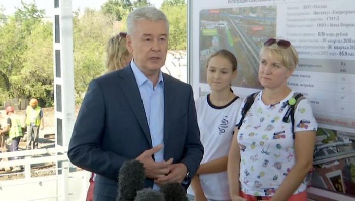 Сергей Собянин открыл в Москве новую платформу «Окружная»