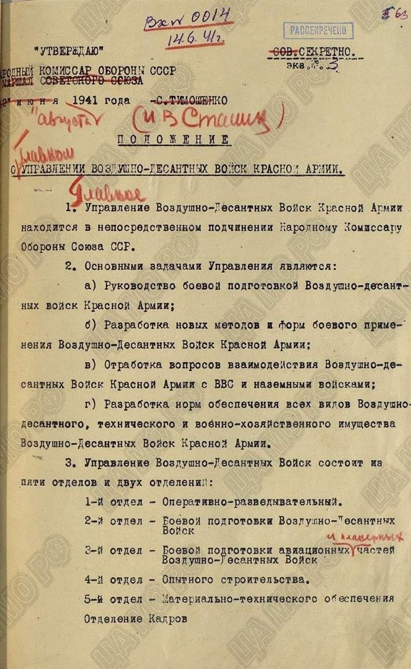 В День ВДВ Минобороны России рассекретило архивы о становлении и боевом пути ВДВ