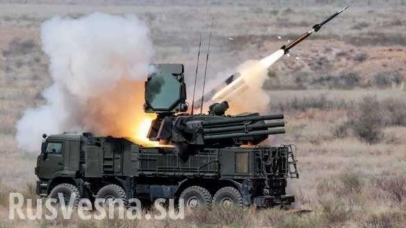 СРОЧНО: Сирийская ПВОуничтожила вражескую цель кзападу отДамаска   Русская весна