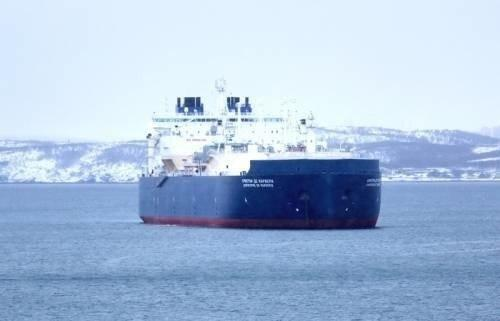 Первый вмире ледокольный газовоз СПГ «Кристоф де Маржери» поставил новый рекорд