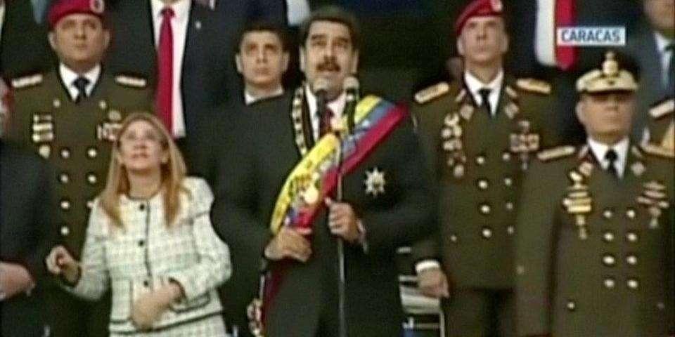 Появилось видео момента покушения на президента Венесуэлы Николаса Мадуро Николаса Мадуро