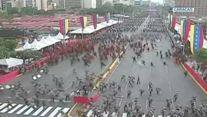 Покушение на Мадуро: взрыв беспилотника во время выступления засняли на камеру