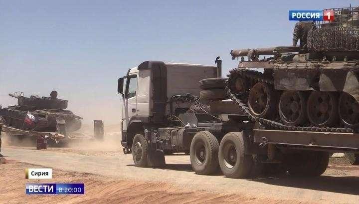 Сирия. Правительственная армия берёт «Треугольник смерти» у границ Израиля и Иордании