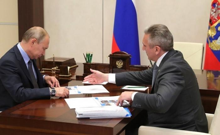 Встреча Владимира Путина сврио главы Тюменской области Александром Моором