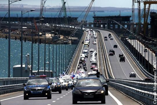 На Крымском мосту обновлён рекорд трафика