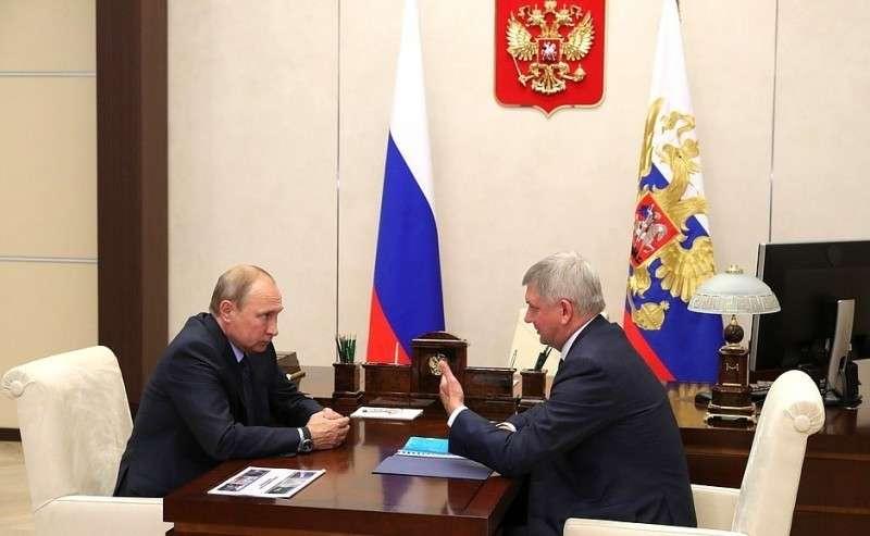 Свременно исполняющим обязанности губернатора Воронежской области Александром Гусевым.