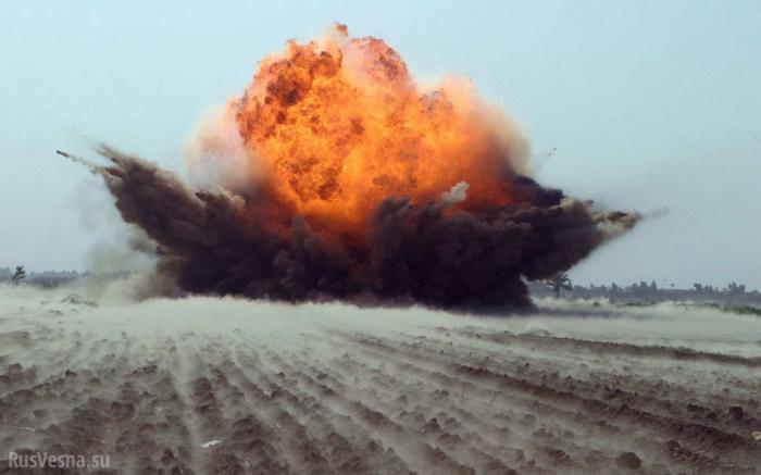 Главаря наёмников США разорвало на части при попыткезахватить флаг Сирии