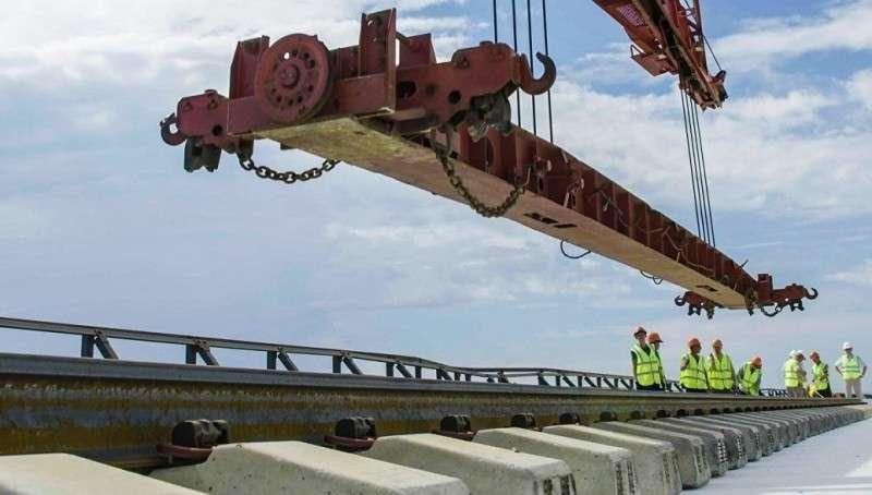 Подрядчик рассказал об устойчивости железной дороги через Керченский пролив