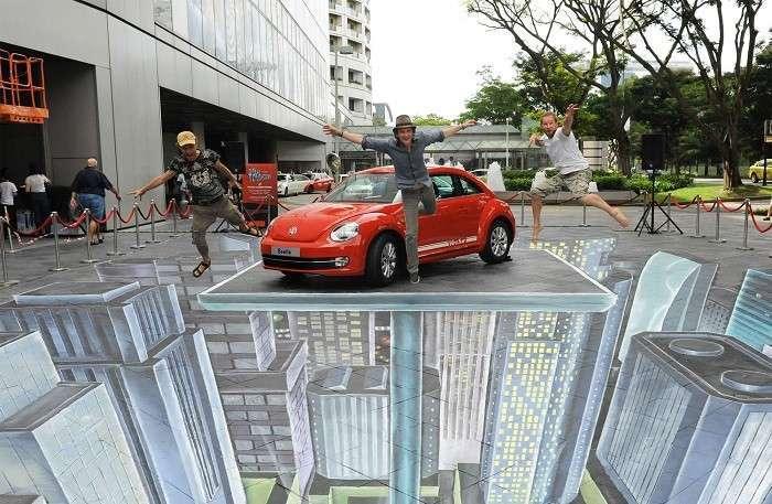 Streetpainting от Leon Keer.
