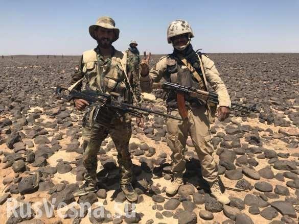 ВКС и армия Сирии выжигают наёмников США