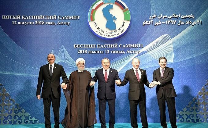Выступление Владимира Путина на Пятом каспийском саммите