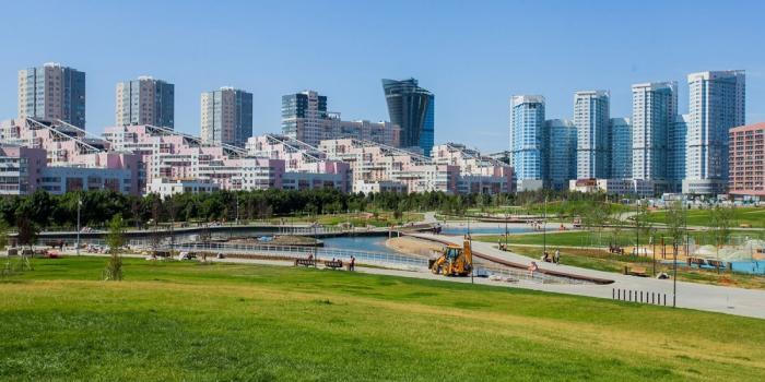 Ход благоустройства Ходынского парка вМоскве