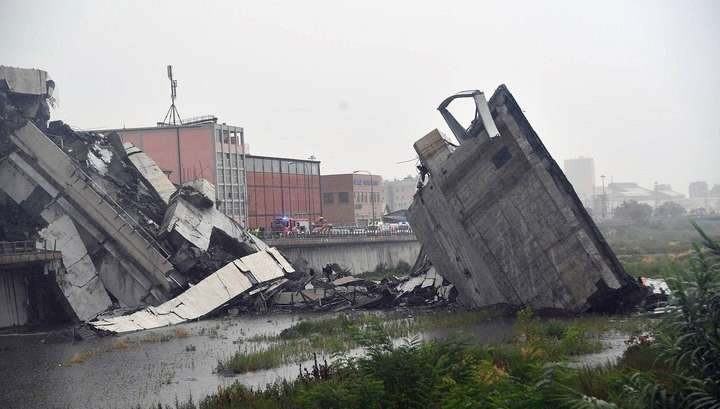Генуя: обрушился автомобильный мост, погибли десятки человек