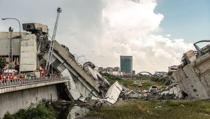 обрушения моста в Генуе: МВД Италии заявляет о 31 жертве