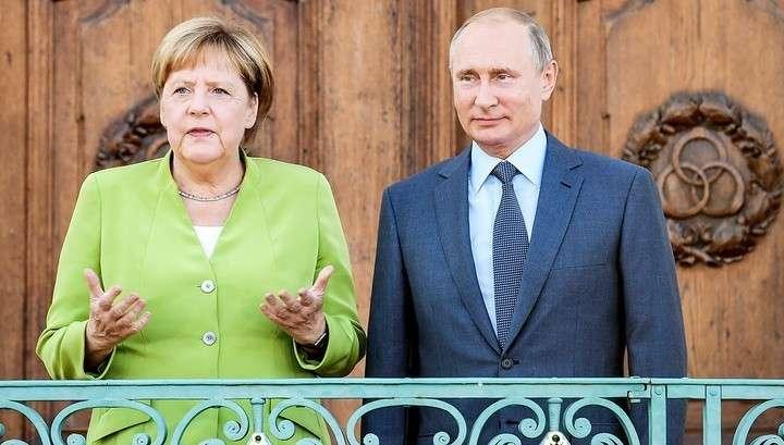 Владимир Путин и Ангела Меркель встретились в резиденции Мезеберг