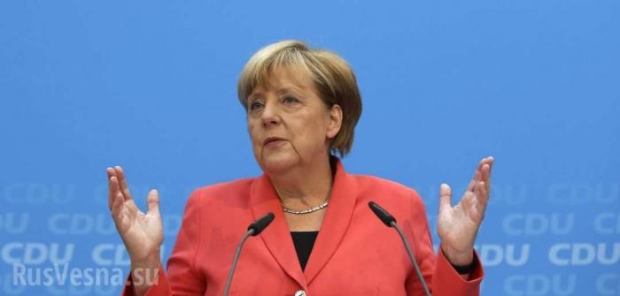Ангела Меркель заговорила по-русски чтобы поскорее уйти вместе с Владимиром Путиным