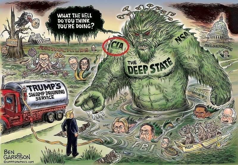 Дональд Трамп начал уничтожение теневого ЦРУ Мирового Правительства