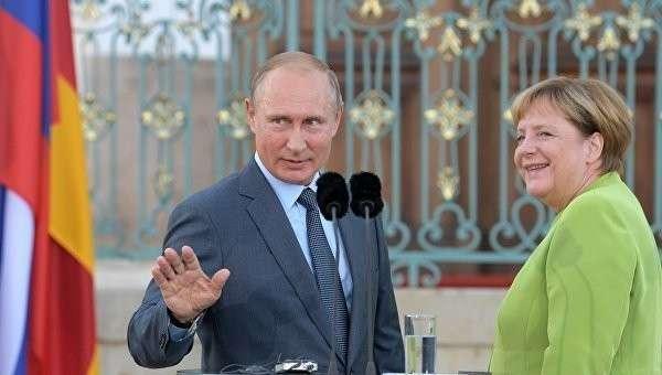Как Владимир Путин мимоходом решал с Меркель вопросы Европы и США