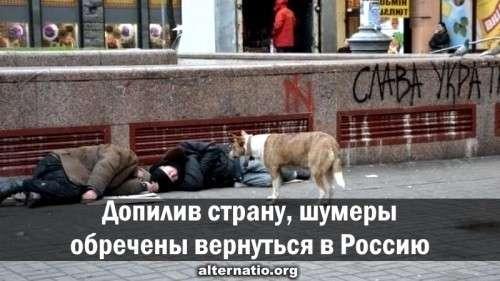 Угробив и закрыв проект «Украина», шумеры обречены вернуться в Россию