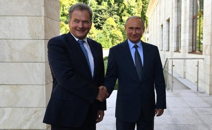 Переговоры Владимира Путина сПрезидентом Финляндии Саули Ниинистё
