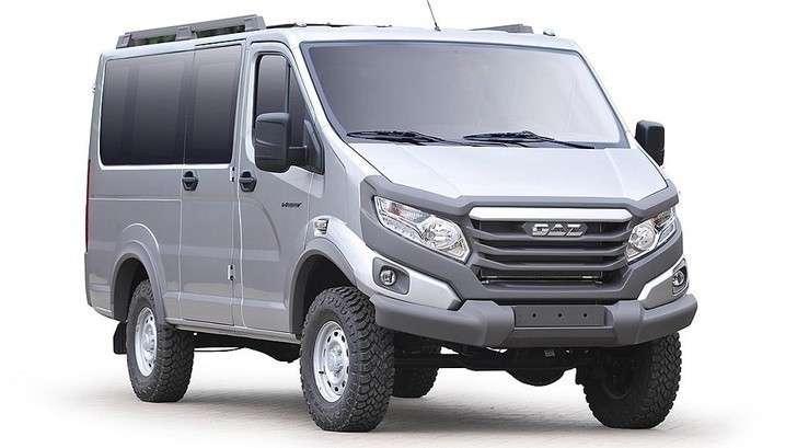 ГАЗ показал внедорожные пикап и микроавтобус «Соболь 4