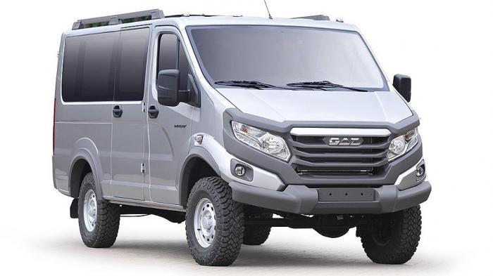 ГАЗ представил новые внедорожные пикап имикроавтобус «Соболь 4х4» Next