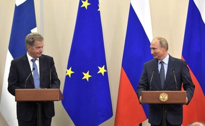 Совместная пресс-конференция Владимира Путина сПрезидентом Финляндии Саули Ниинистё