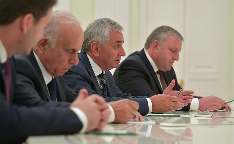 Встреча сПрезидентом Республики Абхазия Раулем Хаджимбой.