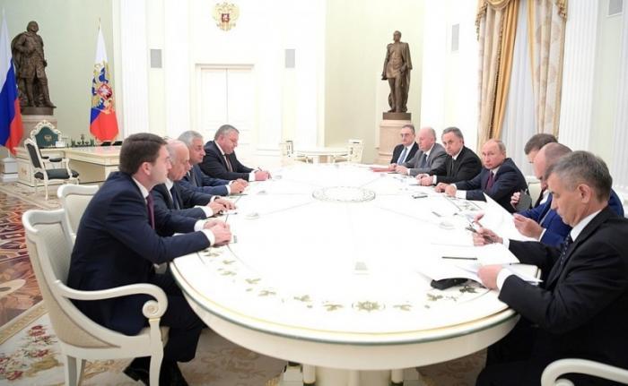 Встреча Владимира Путина сПрезидентом Республики Абхазия Раулем Хаджимбой