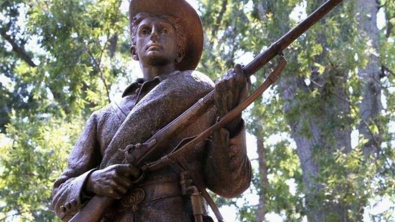 Майданизация США набирает обороты: свален памятник Молчаливому Сэму