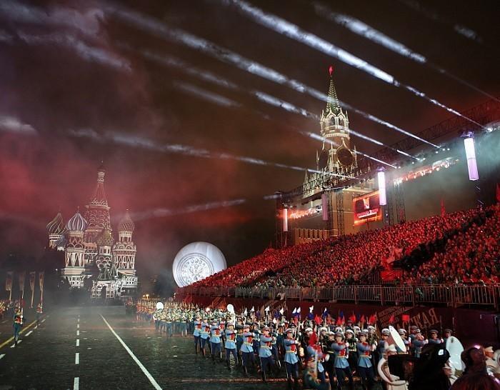 Москва. Стартовал ежегодный фестиваль военной музыки