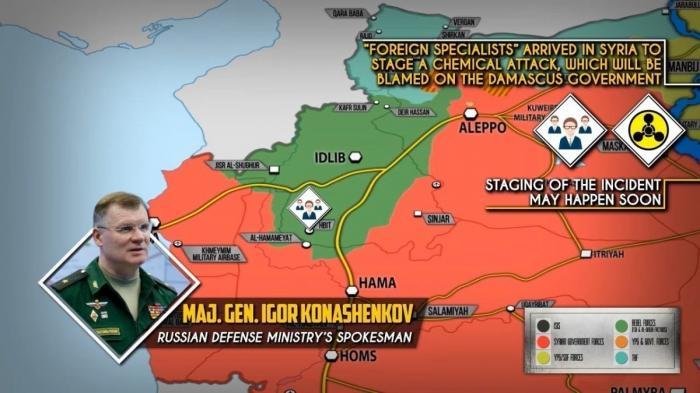 Сирия. Минобороны России предотвращает постановочную химатаку в Сирии