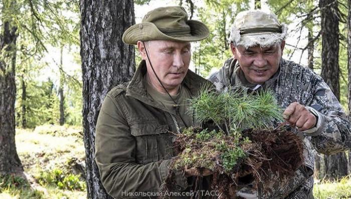 Путин, Шойгу и Бортников отдохнули и прогулялись по тувинской тайге