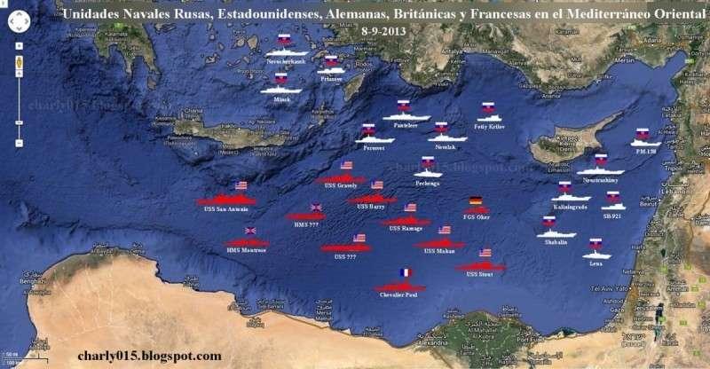 Россия и США собирают у берегов Сирии мощные группировки боевых кораблей