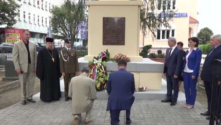 В Польше активисты восстановили памятник советским воинам в Зомбковице-Слёнске