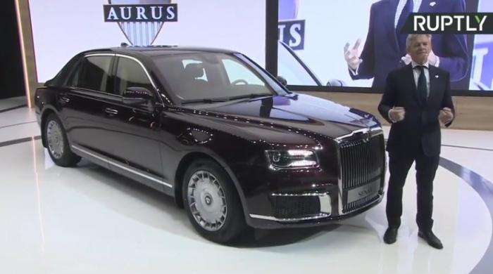Мировая премьера машин Aurus проекта «Кортеж» состоялась на Московском автосалоне