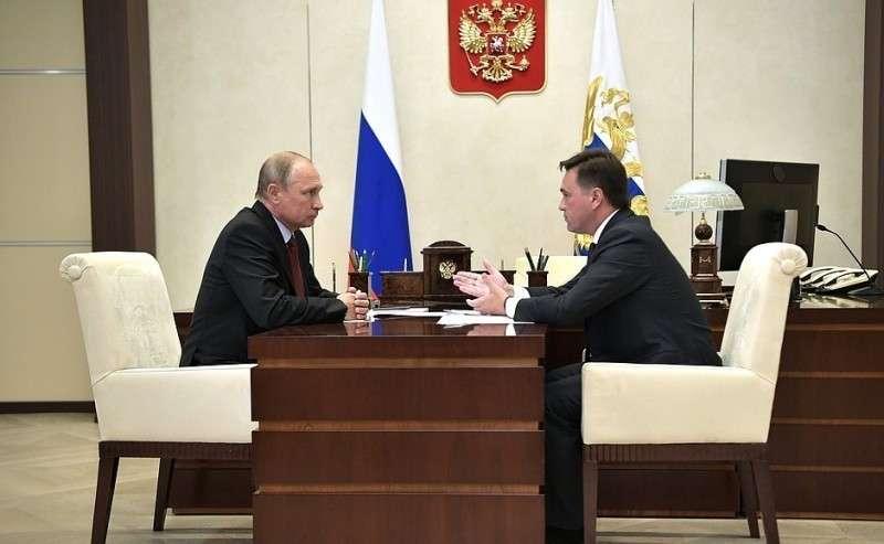 Рабочая встреча сгубернатором Московской области Андреем Воробьёвым.