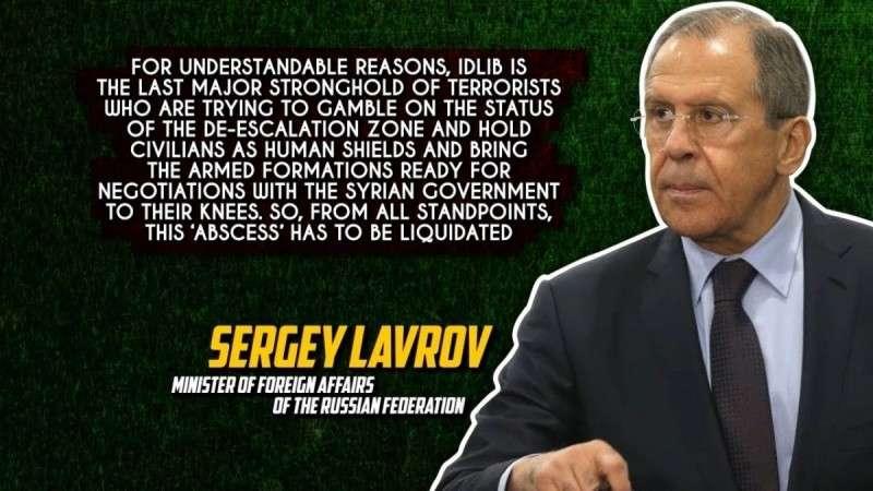 Сирия. Сергей Лавров призвал ликвидировать «гнойник» боевиков в Идлибе