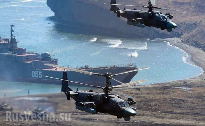 ВКС и ВМФ России начали крупнейшие манёвры у берегов Сирии