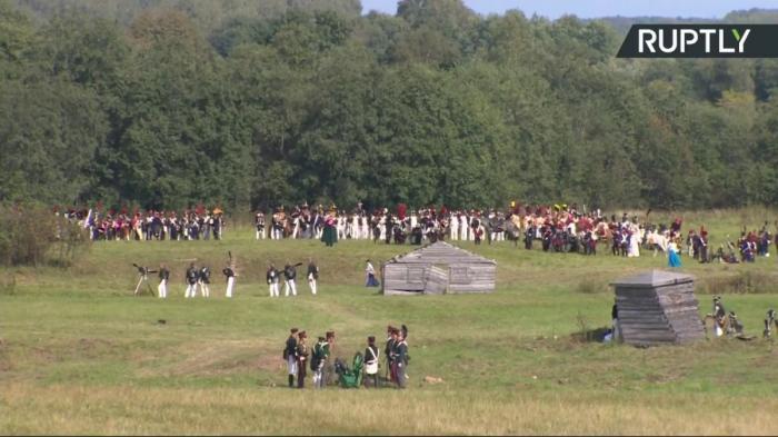 Реконструкция Бородинского сражения войны 1812 года. Прямая трансляция