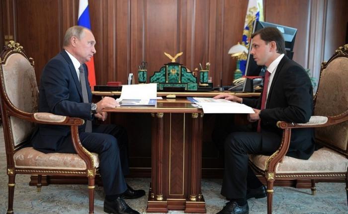 Встреча Президента сврио главы Орловской области Андреем Клычковым