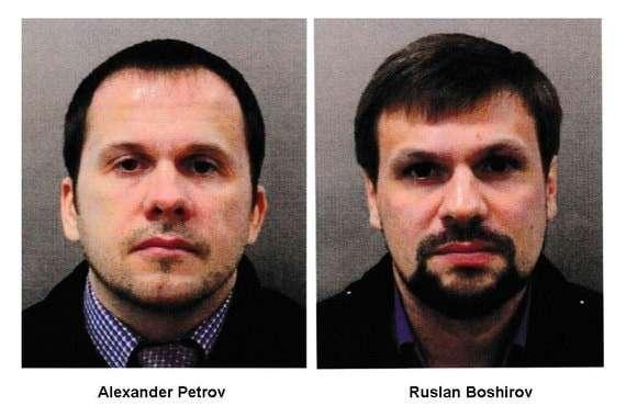 На фото - Александр Петров и Руслан БошировПо данным полиции, подозреваемые прибыли в Великобританию под этими именами. Скотланд-Ярд не исключает, что имена вымышленные. Подозреваемым примерно по 40 лет, это граждане России.