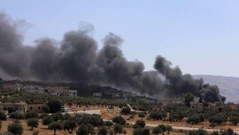 Русские ВКС нанесли удар по боевикам в Идлибе