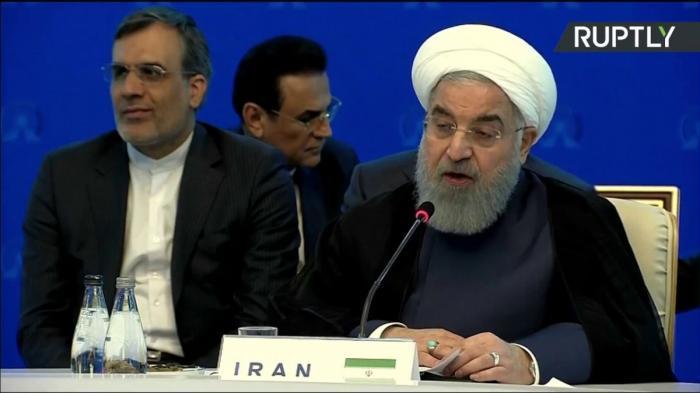 Владимир Путин, Хасан Рухани и Реджеп Эрдоган проводят встречу в Иране. Прямая трансляция
