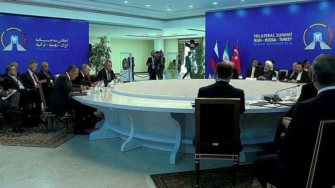 Встреча сПрезидентом Ирана Хасаном Рухани иПрезидентом Турции Реджепом Тайипом Эрдоганом