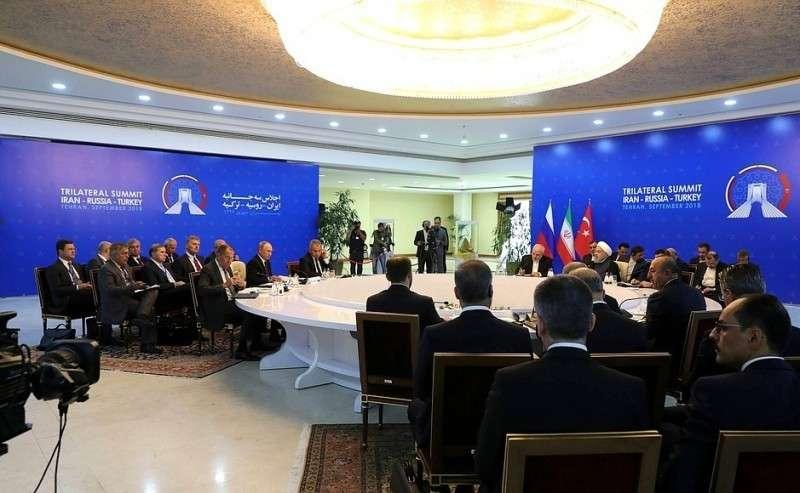 Встреча сПрезидентом Ирана Хасаном Рухани иПрезидентом Турции Реджепом Тайипом Эрдоганом.