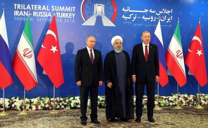 Владимир Путин обсудил с главами Ирана и Турции нормализацию обстановки в Сирии