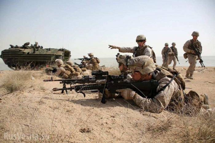 Коалиция бандитов США начала учения на востоке Сирии