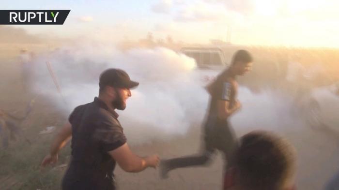 Израильский беспилотник со слезоточивым газом взорвался после его захвата палестинцами